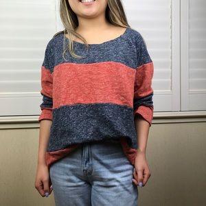 Lucky Brand rugby stripe sweatshirt